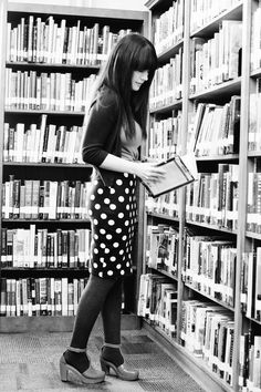 A beautiful mess. Sister style: At the library