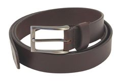 Brown leather belt for all your jeans and trousers (1.5 inch)