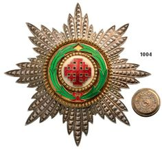 ORDER OF THE HOLY SEPULCHRE Grand Officer's Star. : Lot 2779