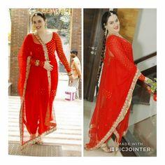 Nandini by Niti J Kundu - Her Crochet Punjabi Salwar Suits, Punjabi Dress, Sari Dress, Anarkali Suits, Dress Indian Style, Indian Dresses, Indian Wear, Panjabi Suit, Salwar Pattern