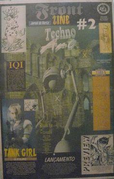 Front Zine Nº 02 publicado pelo Clube dos Quadrinheiros de Manaus no extinto Jornal do Norte em 29 de janeiro de 1996 com autoria de Fábio Prestes, João Vicente, Mário Orestes Silva e Daniel Dante.