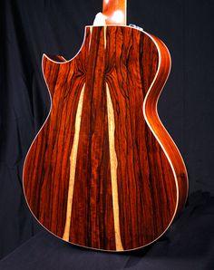 Acoustic Guitar - Cocobolo Wood Back