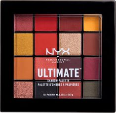 NYX Professional Makeup Phoenix Ultimate Shadow Palette is as dope as ever! Brimming with smokey tones of true navy and gray, the Phoenix palette comes loaded with bright-haute shades of red and berry-perfect for creating intense, sizzling looks. Nyx Eyeshadow Palette, Nyx Palette, Makeup Palette, Drugstore Eyeshadow, Lipstick Dupes, Nyx Makeup, Skin Makeup, Beauty Makeup, Glamour Makeup