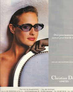 1988 Dior ad ~ featuring fishnet gloves