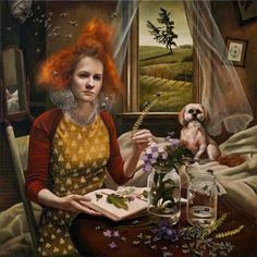 "Andrea Kowch has been described as "" a powerful voice emerging, demonstrating a highly sensitive consciousness that informs a cultur..."