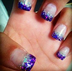 Purple Tips Nails