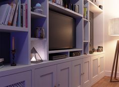 Fitted TV unit in the living room by Urban Wardrobes unit With Wardrobe Fitted Bookcase around TV unit, Chelsea Built In Tv Cabinet, Built In Cupboards, Tv Cabinets, Good Day Song, Diy Entertainment Center, Mid Century House, Bookcase, Bookshelves, Shelving