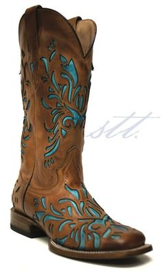Cowgirl Boots - Stetson Boots - Cowboy Boots for Women -- It's official, it's cowboy boot season!  Boots and dresses for summer with these awesome boots