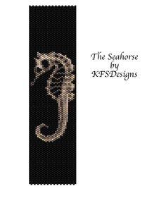 Peyote Stitch Beading Pattern  The Seahorse Buy 2 by KFSDesigns, $6.50