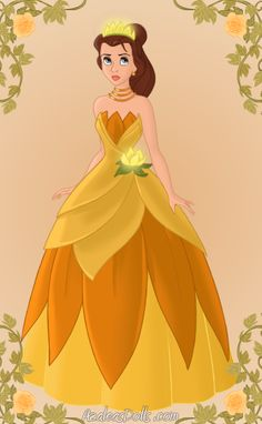 Belle as Tiana - Disney Princess Photo (31919403) - Fanpop fanclubs