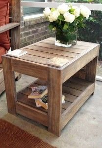 DIY Furniture Store KnockOffs - Do It Yourself Furniture Projects Inspired by Pottery Barn, Restoration Hardware, West Elm. Tutorials and Step by Step Instructions  |   Belvedere End Table  |   http://diyjoy.com/diy-furniture-store-knockoffs