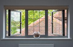 A Full House of Origin Slimline Windows Modern Windows And Doors, Aluminium Windows And Doors, Iron Windows, Sliding Windows, Casement Windows, Aluminum Windows Design, Window Bars, French Doors Patio, Window Styles