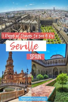 Seville Spain Things To Do: Travel itinerary and full guide on all of the beautiful places to see like Real Alcasar, Catedral de Sevilla, and Plaza de España. Find all the best places to eat amazing food and which areas you should stay in on your visit. Backpacking Europe, Europe Travel Guide, Spain Travel, Portugal Travel, Travel Guides, Valencia, Europe Destinations, Menorca, Bilbao