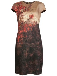AKRIS Tree print dress