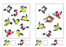 Cartoon Sun, Cartoon Birds, Montessori Math, Preschool Learning, Diy And Crafts, Crafts For Kids, Kindergarten, Bird Coloring Pages, Bird Theme