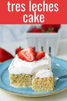 A classic Mexican dessert made with a vanilla sponge cake soaked with three kinds of milk -- heavy cream, evaporated milk and sweetened condensed milk and topped with whipped cream. Best Dessert Recipes, Easy Desserts, Delicious Desserts, Cake Recipes, Yummy Food, Fun Recipes, Copycat Recipes, Dessert Ideas, Dulce De Leche