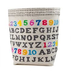 It's an 'A to Z' Floor Bin by Canadian design shop fluf. Made of organic cotton canvas, this sturdy stand-up bin is adjustable Organic Cleaning Products, Fab Life, This Little Piggy, Kids Room Design, Kid Spaces, School Fun, Getting Organized, Duvet Cover Sets, Kids Playing