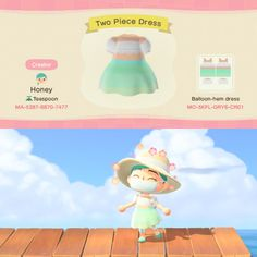 Two Piece Dress by Honey of Teaspoon Animal Crossing: New Horizons