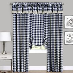 Tie Up Curtains, Country Curtains, Window Curtains, Rustic Curtains, Buffalo Plaid Curtains, Tie Up Shades, Farmhouse Windows, Country Chic, Country Farmhouse