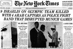 Image result for new york times 1972 olympics terror