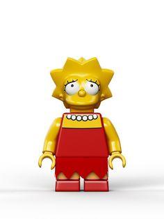 Les photos officielles des figurines Lego des Simpsons #lisa #jouets #legos