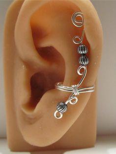 Sterling Ear Cuff Wrap Cartilage Non Pierced. $15.00, via Etsy.