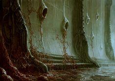 Here's some gross new concept art of Scorn - Rely on Horror Arte Horror, Horror Art, Cthulhu, Dark Fantasy Art, Dark Art, Arte Sci Fi, Lovecraftian Horror, 3d Chalk Art, Arte Obscura