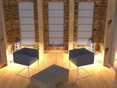 rustic/industrial living room design