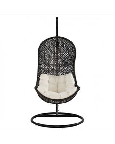 The Parlay Rattan Outdoor Patio Swing Chair Demarcate rules of engagement with this highly entropic piece. Experience a single unified front as you progress toward instrumental change. Sink into a reality defined by the rhythm of life with a soft all-weather white cushion and deeply concaved frame.   www.1800sofas.com/eei-806-the-parlay-rattan-outdoor-patio-swing-chair