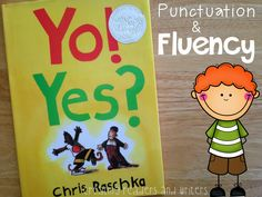 Punctuation and expression are an important part of fluency. This book Yo! by Chris Raschka is very helpful in helping kids practice the two concepts of punctuation and expression when reading for fluency. Reading Intervention, Reading Strategies, Reading Skills, Teaching Reading, Reading Comprehension, Teaching Kids, Reading Tips, Shared Reading, Guided Reading