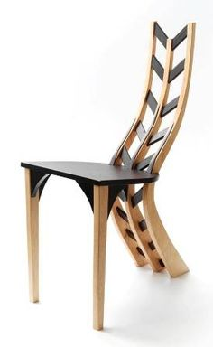 zipperback chair. maple, wenge #Cool #Creative #Chair #Furniture #Design #Tips