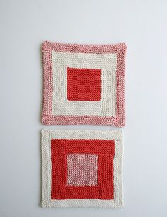 Whit's Knits: New Log Cabin Washcloths - The Purl Bee - Knitting Crochet Sewing Embroidery Crafts Patterns and Ideas!