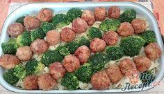 Tagliattele s masovými kuličkami a brokolicí Mozzarella, Sprouts, Broccoli, Treats, Vegetables, Recipes, Nail Art, Food, Easy Meals