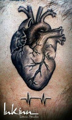 Biological human heart tattoo