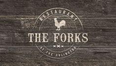 The Forks Restaurant Branding Restaurant Branding, Forks, Visual Identity, Bobby Pins, Corporate Design, Folk, Corporate Identity