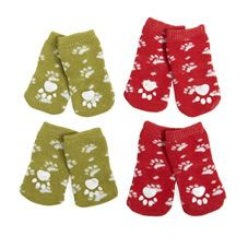 Protect their paws this Christmas with our cosy little dog socks. They're available in red or green, and in small, medium and large. 100% polyester.
