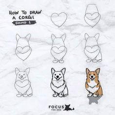 cadenceabsolutely: My new ig series: How to Draw… A Corgi ;P Obtain your best Corgi equipment exclusively at Corgilover. Cute Corgi, Corgi Dog, Corgi Funny, Haski Dog, Corgi Cartoon, Mom Funny, Dachshund, Corgi Drawing, Dog Art