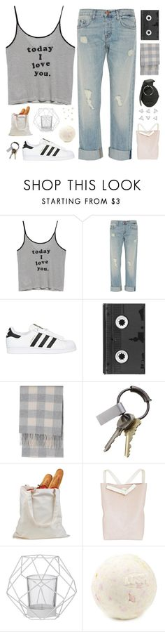 """""""Read Description Please :-(("""" by wi-fi-li-fe ❤ liked on Polyvore featuring MANGO, J Brand, adidas Originals, Luckies, Uniqlo, CB2, Fien de Graaf and Bloomingville"""