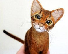 needle felted cat - Google Search