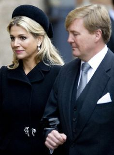 Dutch Queen Maxima and King Willem Alexander leave a memorial service for Prince Friso of The Netherlands, who passed away in August 12 following a skiing accident in February 2012, at the old Church in Delft on 02.11.13