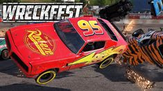Playing Wreckfest with a bunch of mods. See Lightning McQueen crashing and smashed into pieces!  Wreckfest mods in use: V8 GrassWacker McQueen Skin The Very Track Pack Trackfest Stockton 99 Speedway Free Market Wild West Motorsports Park Particles  Contact Particles  Loose Surfaces Particles  Hard Surfaces Disable Reset Walls  #wreckfest #nextcargame Car Up, Demolition Derby, Roll Cage, Rear Ended, Lightning Mcqueen, Performance Parts, Wild West, Racing, Free Market
