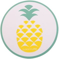SunnyLife Pineapple/Watermelon Coasters ($18) ❤ liked on Polyvore featuring home, kitchen & dining, bar tools, drink coasters and beverage coaster