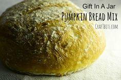 Pumpkin Bread Mix — CraftBits.com Easy Bread Machine Recipes, Bread Maker Recipes, Pumpkin Bread Mix, Fun Food, Good Food, Jar Gifts, Funny Food, Gift Jars, Healthy Food