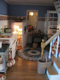 Our customers custom Rye Kitchen - I absolutely love the stair basket.