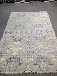 6x9 modern hand knotted rug for $799 at www.therugmall.com