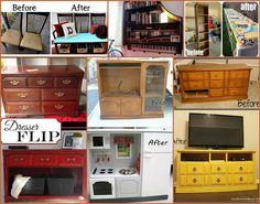 20+ Yaratıcı Fikirler ve DIY Projeleri Eski Mobilya yeniden kullanın için