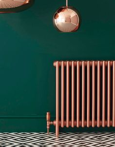 Bisque design beautiful radiators for stylish interiors. Hallway Decorating, Interior Decorating, Interior Design, Hallway Inspiration, Interior Inspiration, Painted Radiator, Casa Milano, Hallway Designs, Dark Walls