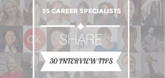 30 interview tips from 35 career specialists Telephone Interview, Cover Letter Tips, Medical Coding, Job Interviews, Resume Tips, Center Ideas, For Facebook, Dress For Success, Life Tips
