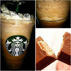 try the deliciously crunchy chocolate *KIT KAT FRAPPUCCINO*!! Visit SecretStarbucks.com for Info