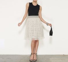 Prada Cream Skirt....